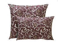 Подушка силиконовая, бязь, Шоколадный орнамент (70х70см)