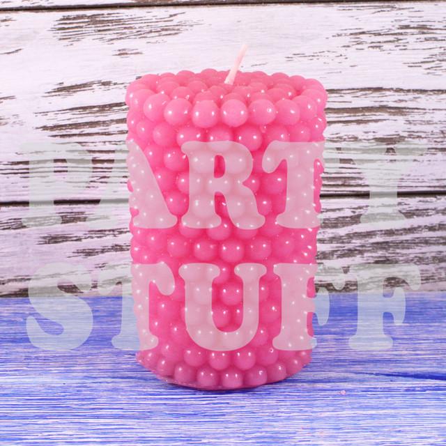 Розовая свадебная свеча