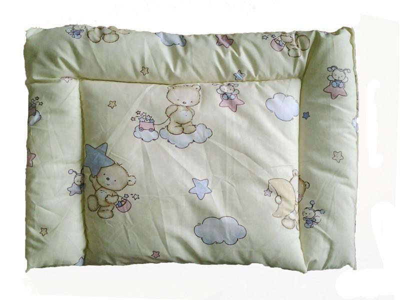 Подушка детская силиконовая, Мишки-тучки (бязь, хлопок 100%)