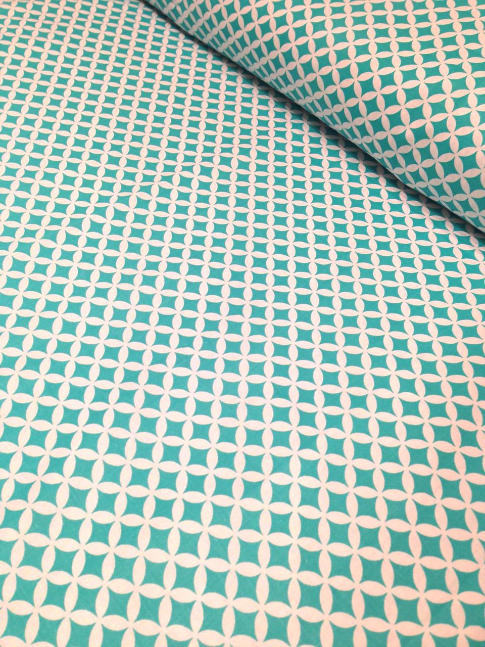 Хлопковая ткань польская ромбы зеленые № 213d