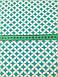 Хлопковая ткань польская ромбы зеленые № 213d, фото 2