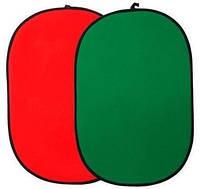 Фотофон 102x153см - на ленте расширенной, маленький - красные и зеленые PoWerlux
