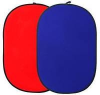 Фотофон 102x153см - на ленте расширенной, маленький, красные и синие PoWerlux
