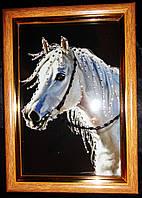 Хрустальная картина Белый конь