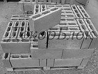 Блок бетонный 400х200х100 перегородочный , фото 1