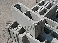 Блок бетонный 400х200х120 Л. заборный, перегородочный, фото 1