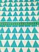 Хлопковая ткань польская треугольники зеленые № 214d, фото 2