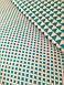 Хлопковая ткань польская треугольники зеленые № 214d, фото 3