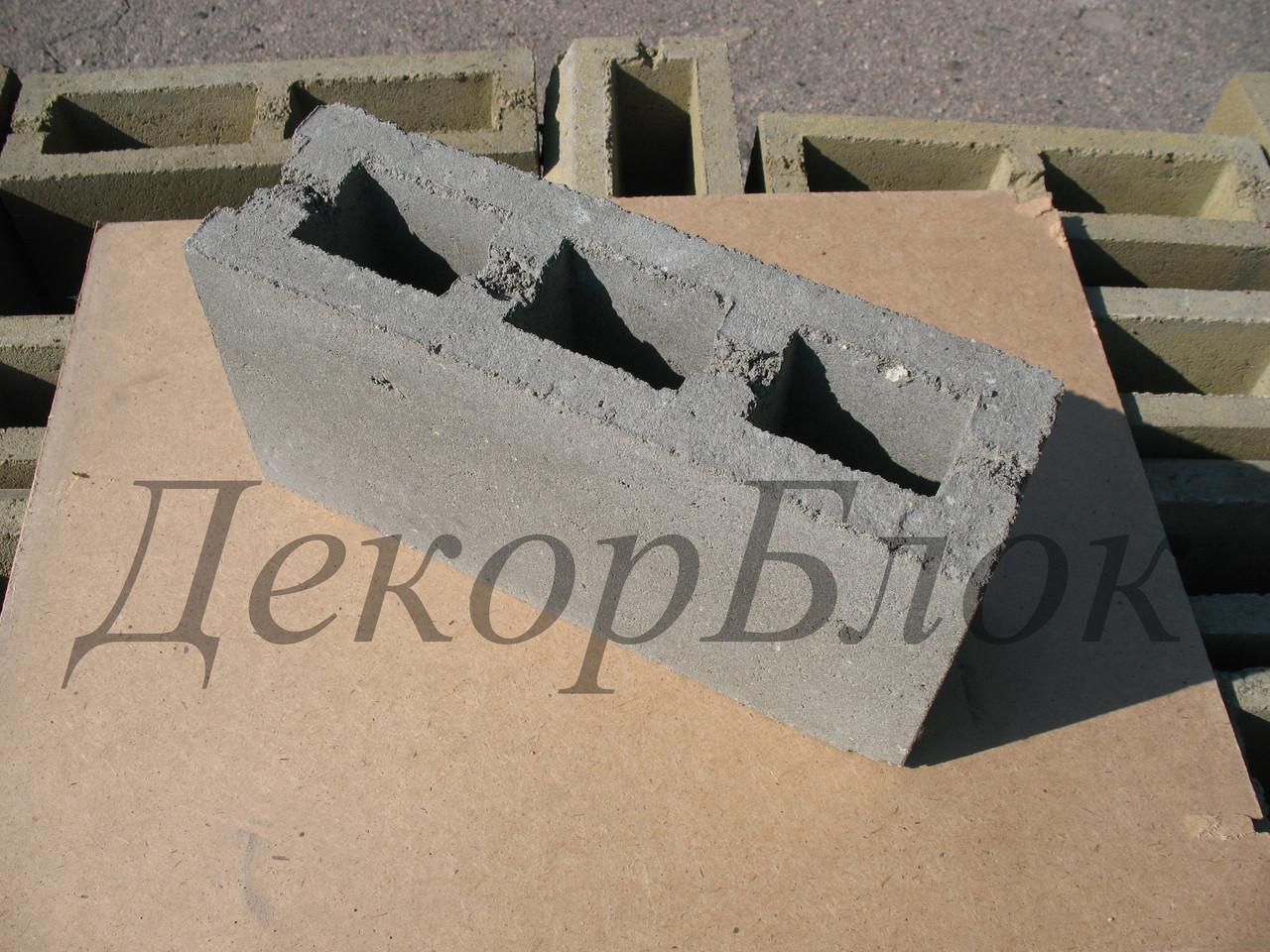Блок бетонный 400х200х120 Т. заборный, перегородочный