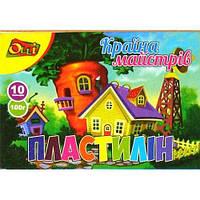 """Пластилин Olli """"Країна майстрів"""" Ol-015-10 10 цветов 100 г (420218)"""