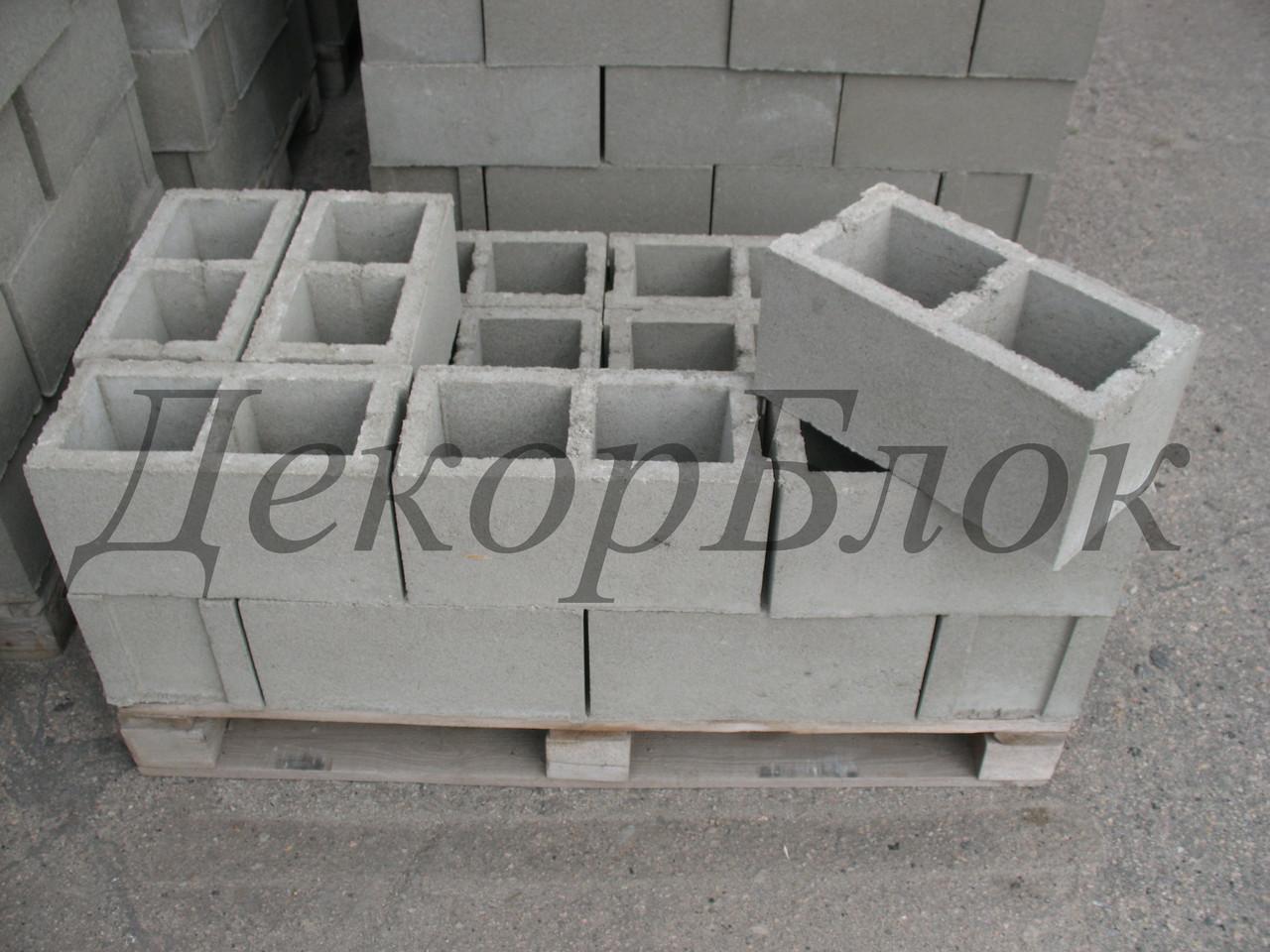 Блок бетонный 400х200х200  Л. стеновой