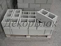 Блок бетонный 400х200х200  Л. стеновой, фото 1