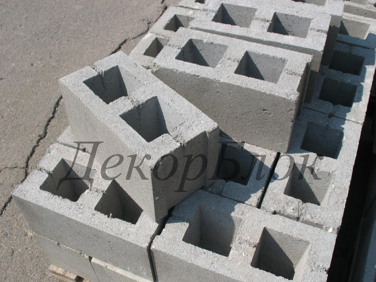 Блок бетонный 400х200х200  Т. стеновой