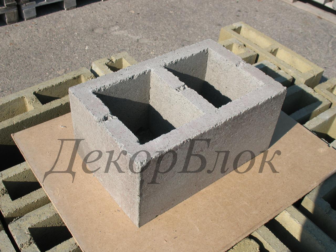 Блок бетонный 400х200х250  Л. стеновой