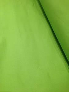 Хлопковая ткань однотонная зеленое яблоко № 13
