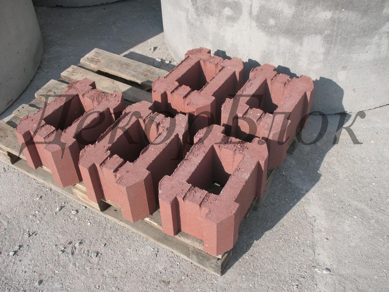 Блок бетонный 400х200х270  столбовой