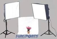 Набор однотонный  фотографии продукции - 40x40см софтбокс стол 40см и штативы 802 Powerlux