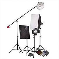 Комплект освещения Powerlux ВЕ - 4 лампы студийные бум ворота softboxy FsFoto