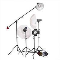 Комплект освещения Powerlux ВЕ - 4 лампы студийные бум ворота зонтики FsFoto