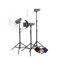 Комплект освещения Powerlux ВЕ - 3 лампы студийные ворота зонтики FsFoto