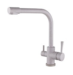 Смеситель для кухни с краном питьевой воды, латунный, однорычажный  KAISER MERCUR 26044-7 Бежевый