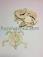 Деревянная мозаика (собираем и раскрашиваем)  65 деталей  , фото 1