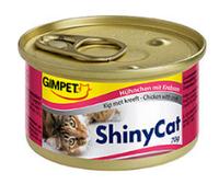 Консервированный корм для кошек с курицей и крабом Шайни Кэт,70г