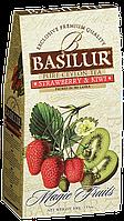 """Чай Basilur """"Магические фрукты"""" Малина и киви в картоне 100 г"""