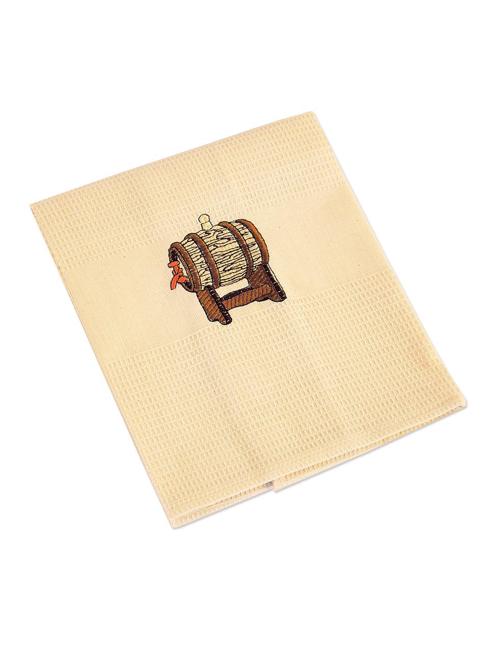 """Вафельное """"Сувенирное"""" полотенце с вышивкой"""
