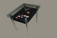 "Столы обеденные стекло ""Сакура"" 1100х650х 750"