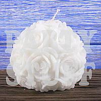 Свадебная свеча Роза круглая 6,5 см