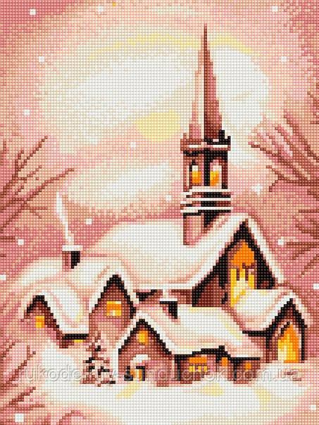 """Набор для вишивания гобелена """"Luca-S"""" G401 Заснеженная церковь"""