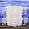 Новогодние свечи белые, 8 см