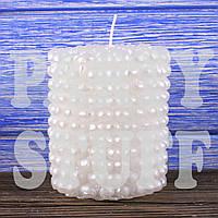 Декоративная свеча семейный очаг белая, 8 см