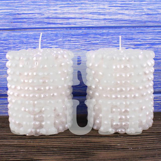 свечи белые свадебные