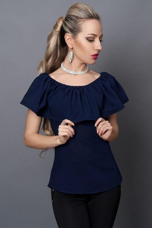 Элегантная женская шифоновая блуза .