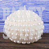 Декоративная круглая свеча Белая, 6,5 см