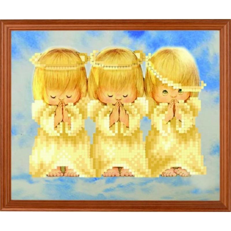 Три ангелочка вышивка схема для вышивки.