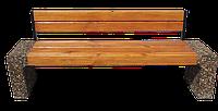 """Скамейка """"Модерн"""" со спинкой"""