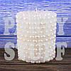 Свеча семейный очаг Белая, 10 см