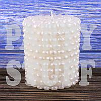 Новогодняя свеча белая, 10 см
