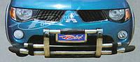 Защита переднего бампера Mitsubishi L200 (кенгурятник) 2007