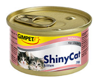 Консервированный корм для котят с курицей Шайни Кэт,70г