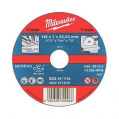 Milwaukee  SCS 41/125х1мм (50шт.) Отрезной диск по металлу