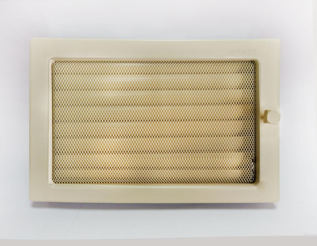 Решетка каминная крашеная с жалюзи, 22x30 см