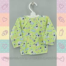 Распашонка Кофточка для новорожденных,1201 ,0-3 месяц рукав нецарапка, Хлопок-Кулир, В наличии 56,62 Рост, фото 3