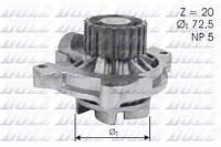 Помпа насос системы охлаждения AUDI 2.4 D,2.5 TDI 88-94 20 зубов D 72.5 лопасть
