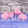 Свеча свадебная сердце Розовая 4 шт (5х5 см)