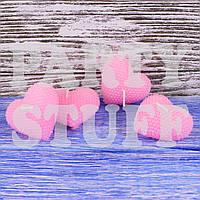 Свеча свадебная сердце Розовая 4 шт (5х5 см), фото 1