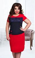 Нарядное платье в больших размерах (в расцветках)